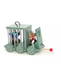Cage aux prisonniers en bois
