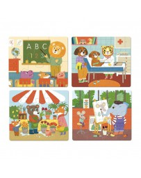 Puzzle bois Zoo