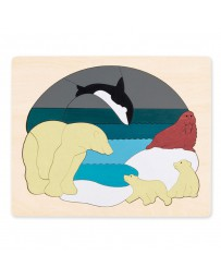 Puzzle relief  animaux polaires