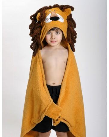 Serviette à capuche Enfant Lion