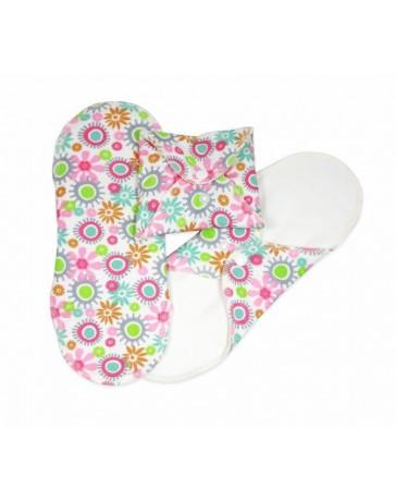 serviettes hygiéniques lavables  flowers - mini